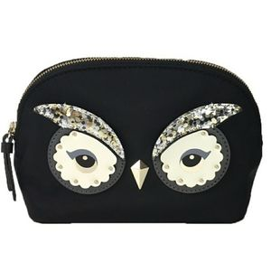 NWT Kate Spade Owl Small Marcy Cosmetic Bag